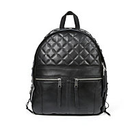 Biker Backpack Black Leather